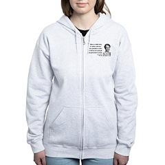 Eleanor Roosevelt 9 Women's Zip Hoodie