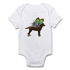 Butterfly Chocolate Lab Infant Bodysuit