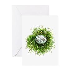 Quail Egg in Grass Greeting Card