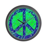 Splatter Peace Wall Clock