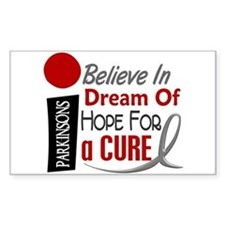 BELIEVE DREAM HOPE Parkinson's Rectangle Decal