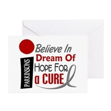 BELIEVE DREAM HOPE Parkinson's Greeting Cards (Pk