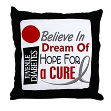 BELIEVE DREAM HOPE J Diabetes Throw Pillow