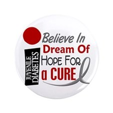 "BELIEVE DREAM HOPE J Diabetes 3.5"" Button (100 pac"