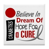 BELIEVE DREAM HOPE Diabetes Tile Coaster