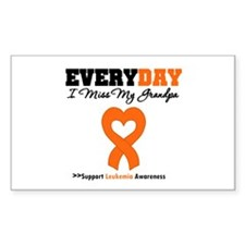 Leukemia MissMyGrandpa Rectangle Sticker 50 pk)