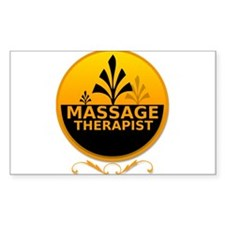 Massage Therapist Rectangle Decal