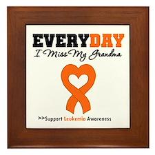 Leukemia MissMyGrandma Framed Tile