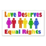 Love Deserves Equal Rights Rectangle Decal