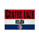 Crater Lake Grunge Rectangle Magnet