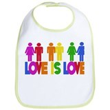 Love is Love Bib