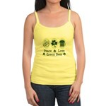 Peace Love Green Beer Jr. Spaghetti Tank