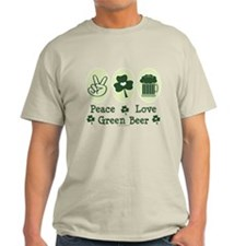 Peace Love Green Beer T-Shirt