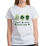 Peace Love Green Beer Women's T-Shirt
