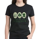 Peace Love Green Beer Women's Dark T-Shirt