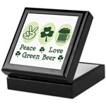 Peace Love Green Beer Keepsake Box