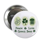 Peace Love Green Beer 2.25