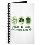 Peace Love Green Beer Journal