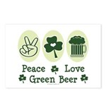 Peace Love Green Beer Postcards (Package of 8)