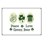 Peace Love Green Beer Banner