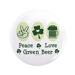 Peace Love Green Beer 3.5