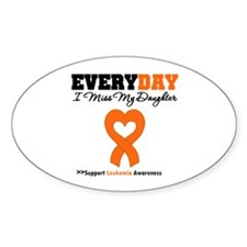 Leukemia MissMyDaughter Oval Decal
