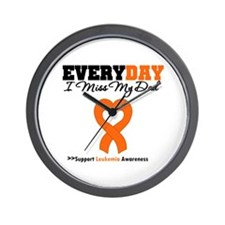 Leukemia MissMyDad Wall Clock