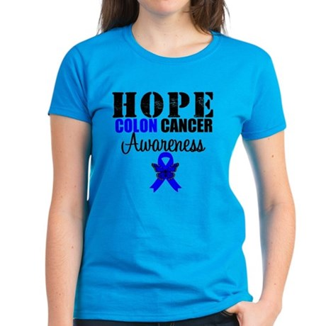 Colon Cancer Hope Women's Dark T-Shirt
