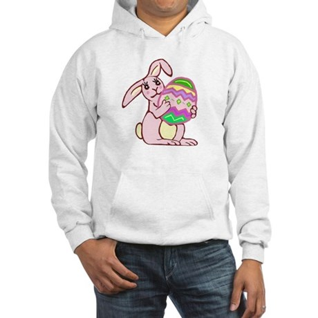 Pink Easter Bunny Hooded Sweatshirt