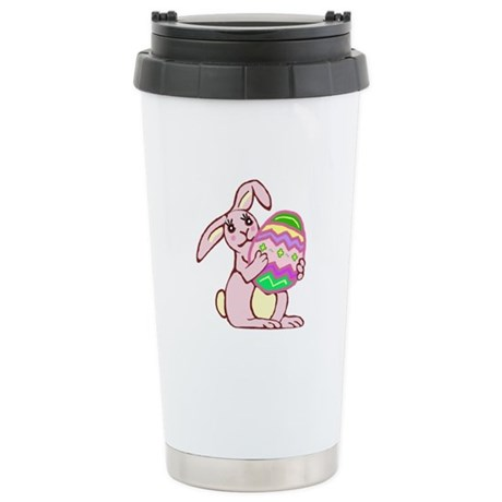 Pink Easter Bunny Ceramic Travel Mug