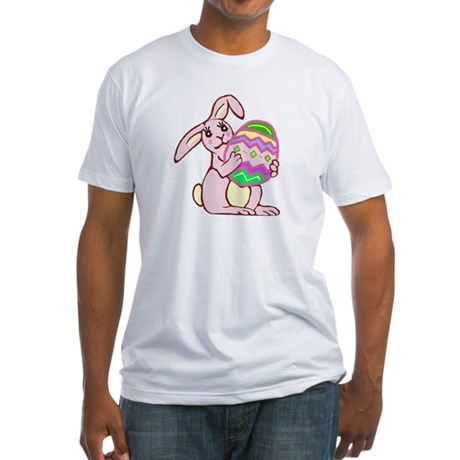 Pink Easter Bunny Fitted T-Shirt