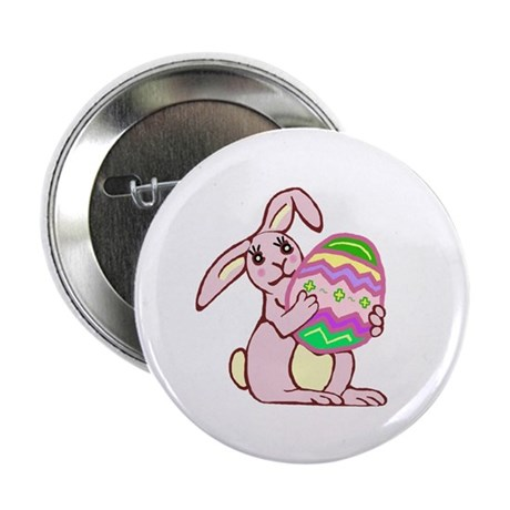 "Pink Easter Bunny 2.25"" Button"