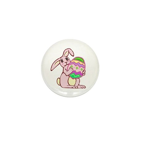 Pink Easter Bunny Mini Button (10 pack)