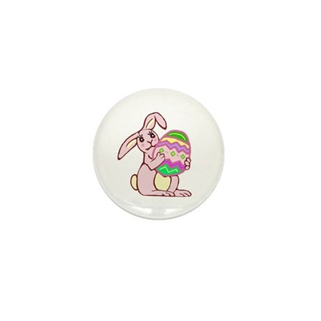 Pink Easter Bunny Mini Button (100 pack)