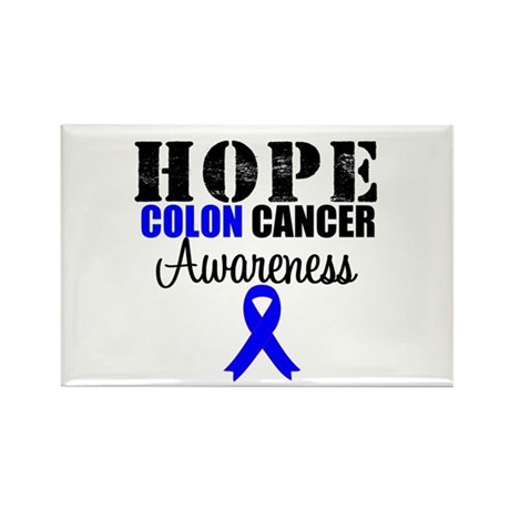 Colon Cancer Hope Ribbon Rectangle Magnet
