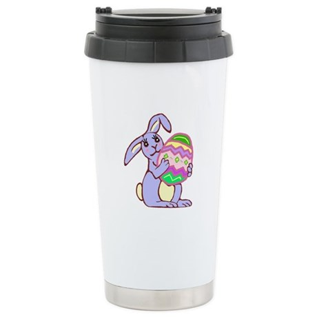 Blue Easter Bunny Ceramic Travel Mug