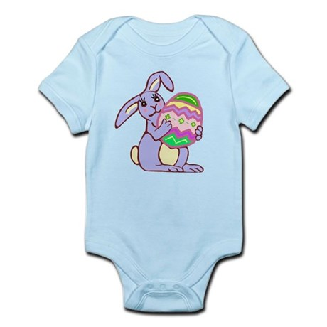 Blue Easter Bunny Infant Bodysuit