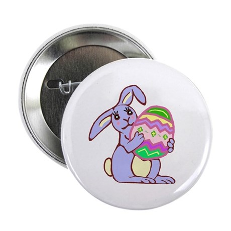 "Blue Easter Bunny 2.25"" Button"