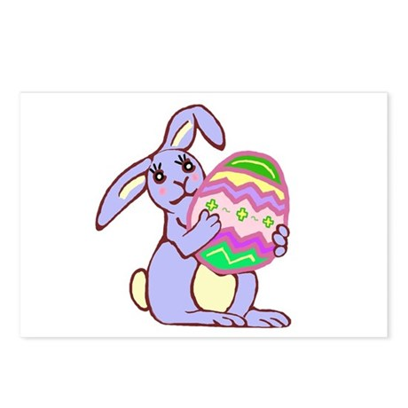 Blue Easter Bunny Postcards (Package of 8)