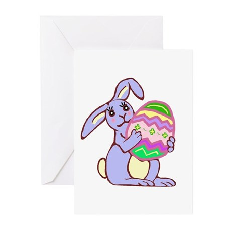 Blue Easter Bunny Greeting Cards (Pk of 10)