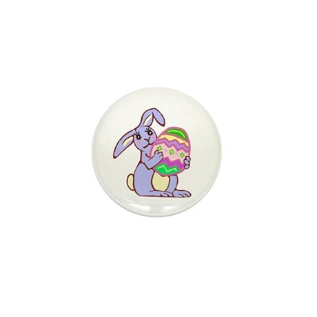 Blue Easter Bunny Mini Button