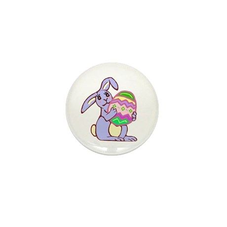 Blue Easter Bunny Mini Button (10 pack)