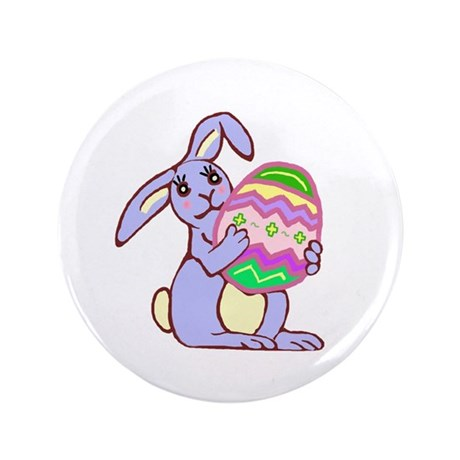 "Blue Easter Bunny 3.5"" Button (100 pack)"