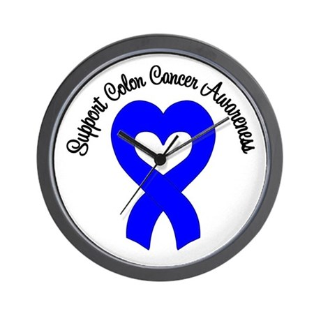 Colon Cancer Support Wall Clock