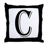 """Algerian - Letter C"" Throw Pillow"