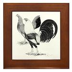 American Game Fowl Framed Tile