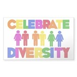 Celebrate Diversity Rectangle Decal