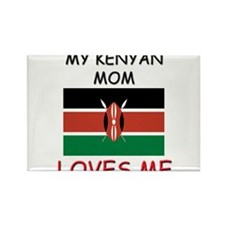 My Kenyan Mom Loves Me Rectangle Magnet