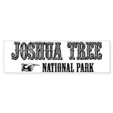 Joshua Tree Western Flair Bumper Car Sticker