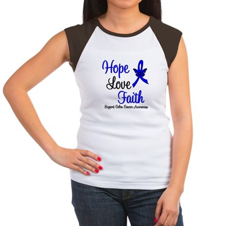 ColonCancer HopeLoveFaith Women's Cap Sleeve T-Shi
